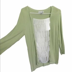 Christopher &  Banks Sage & Sheer Sweater (M)